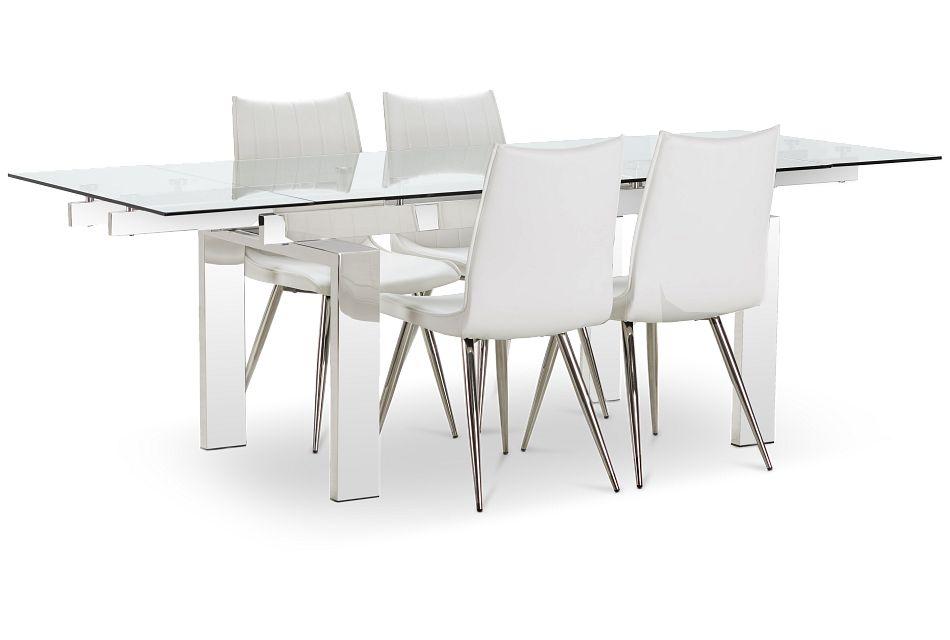 Wynwood Metal Rect Table 4 White, Wynwood Dining Room Sets