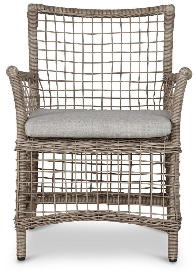 Raleigh Gray Woven Arm Chair (2)