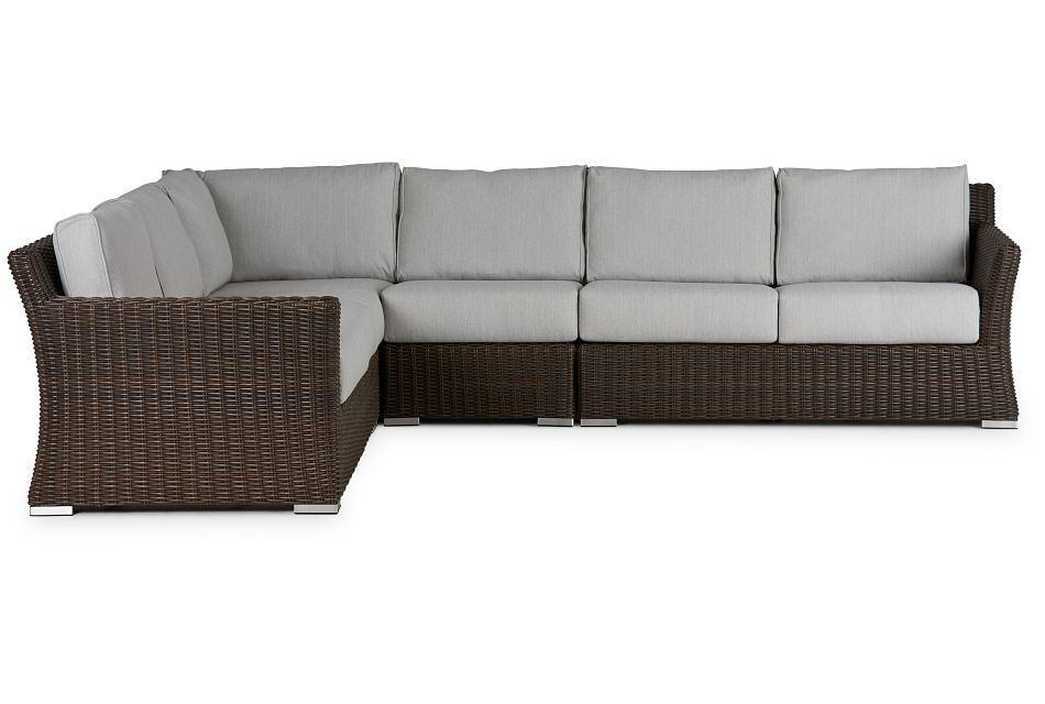 Southport Gray Woven Large Two-Arm Sectional,  (0)