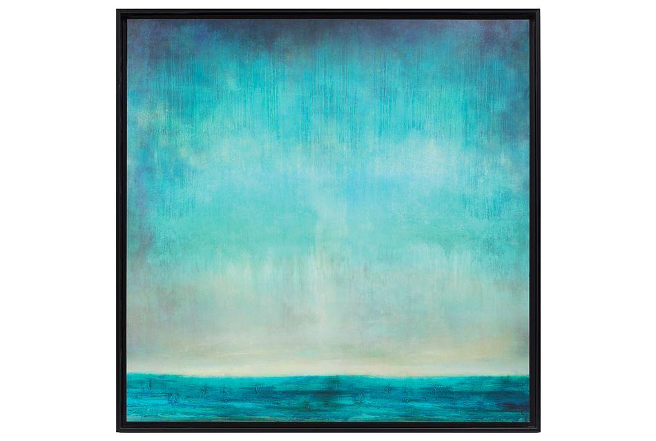 Karlee Dark Blue Framed Wall Art