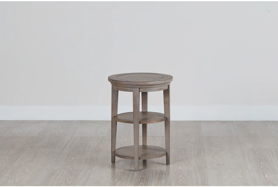 Heron Cove Light Tone  Round End Table,  (0)