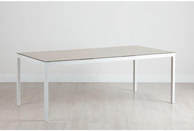 "Aventura Champagne 78"" Rectangular Table"