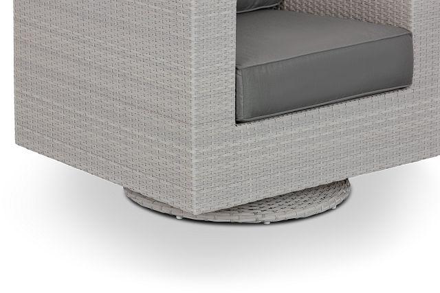 Biscayne Gray Swivel Chair