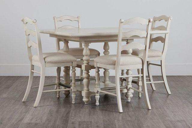 Savannah Ivory High Table & 4 Barstools (0)