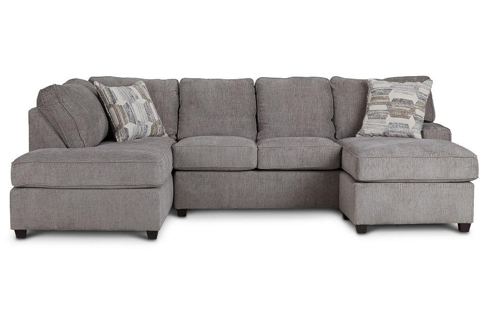 Millie Gray Fabric Sectional