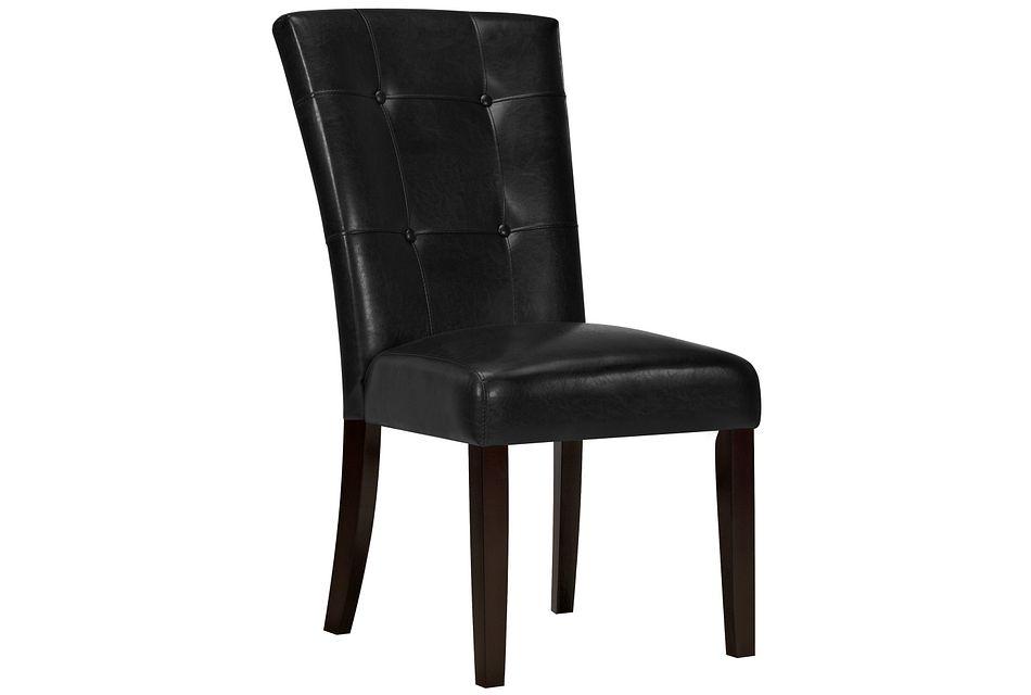 Monark Black Upholstered Side Chair