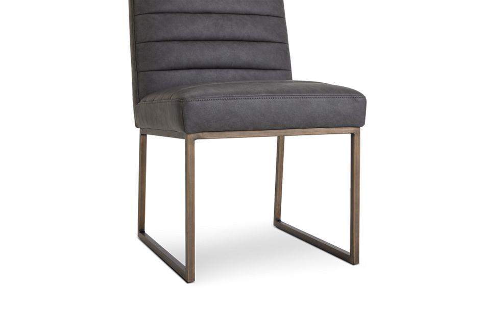Miller Dark Gray Upholstered Side Chair