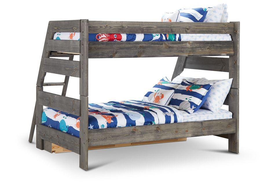 Cinnamon Gray Storage Bunk Bed