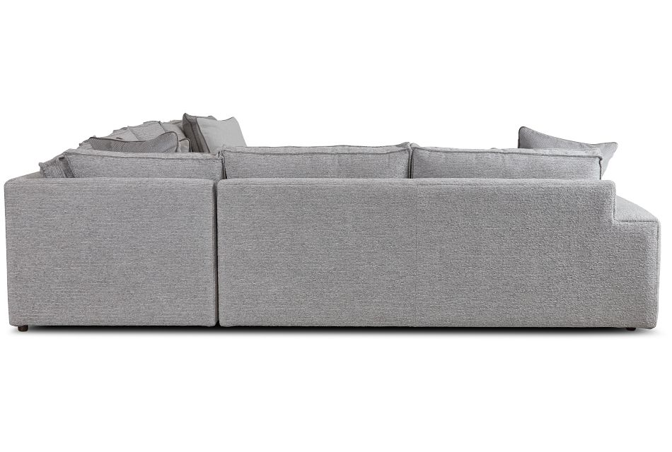 Nest Gray Fabric Medium Right Chaise Sectional