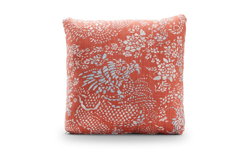 "Amupara Coral 18"" Square Accent Pillow"