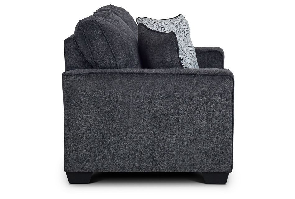 Altari Dark Gray Micro Loveseat