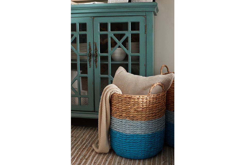 Bailey Set Of 3 Blue Basket,  (2)
