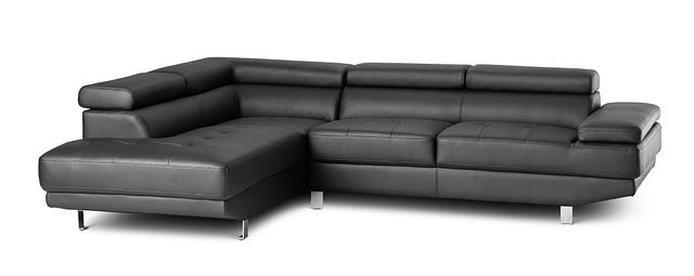 Zane Black Micro Left Chaise Sectional (0)