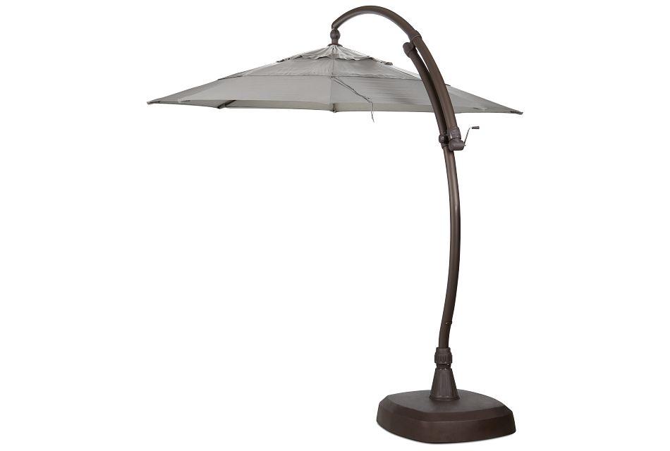 Cayman Gray Cantilever Umbrella Set