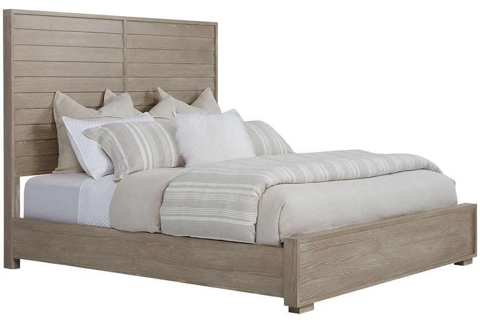 Zephyr Light Tone Panel Bed