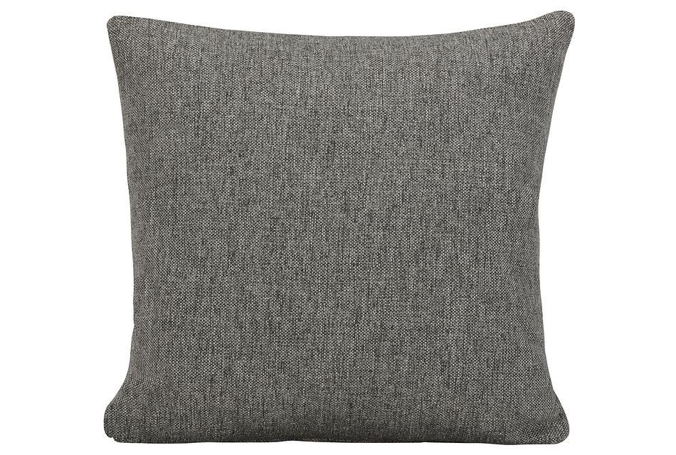 Asheville Gray Fabric Square Accent Pillow
