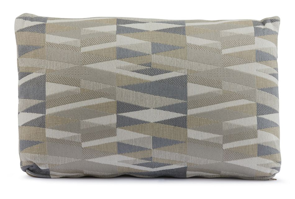 Derailed Light Beige Lumbar Accent Pillow