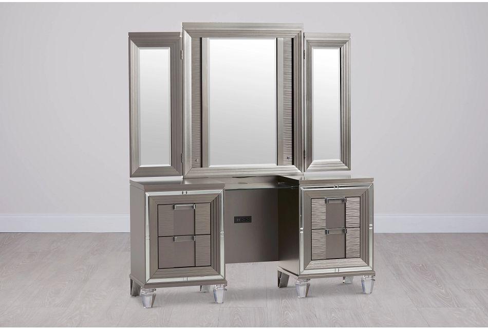 Vegas Gray Vanity & Mirror