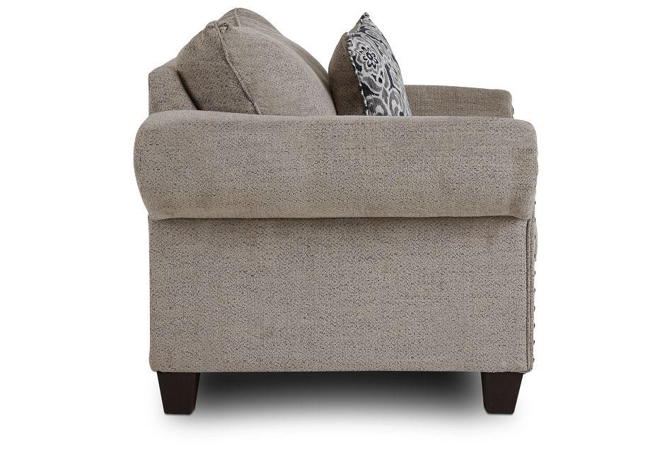 Adrian Light Gray Fabric Chair,  (2)