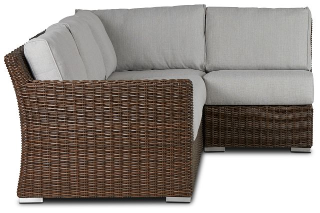 Southport Gray Left 4-piece Modular Sectional (1)