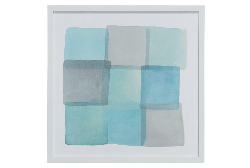 Tiles Blue Framed Wall Art