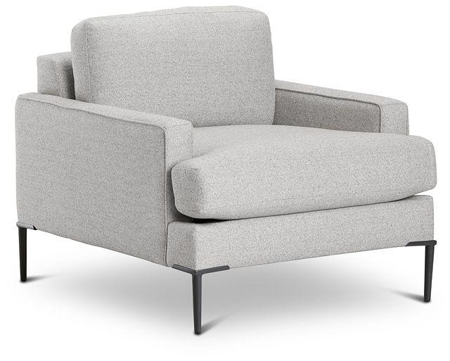 Morgan Light Gray Fabric Chair With Metal Legs (1)