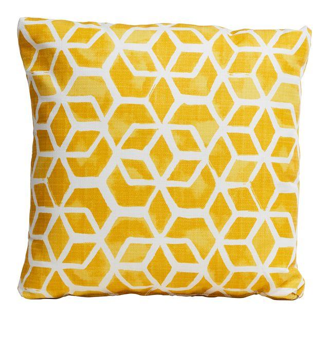 "Celtic Yellow 18"" Indoor/outdoor Accent Pillow (0)"