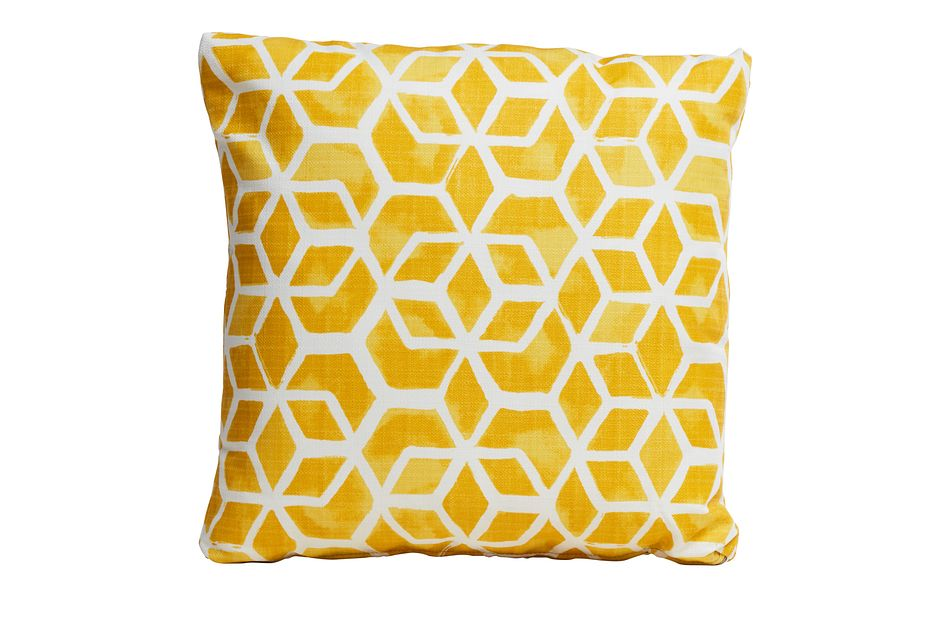 "Celtic Yellow 18"" Indoor/outdoor Accent Pillow"