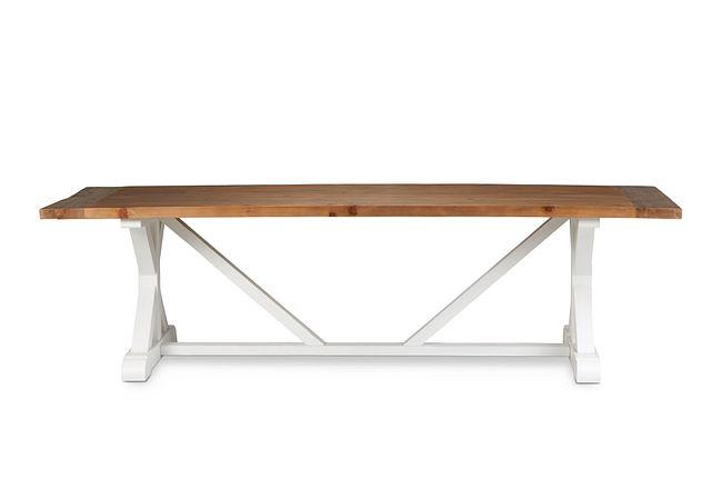 "Hilton Two-tone 110"" Rectangular Table"