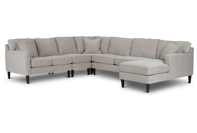 Archer Light Taupe Fabric Large Right Chaise Sectional