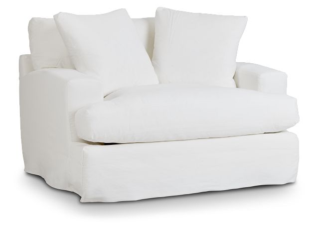 Delilah White Fabric Chair (1)