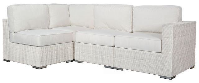 Biscayne White 4-piece Modular Sectional (0)