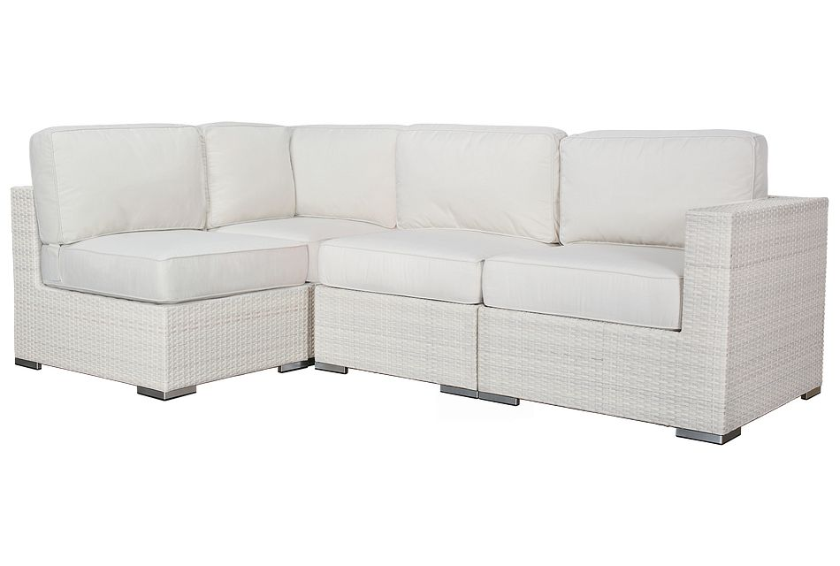 Biscayne White 4-piece Modular Sectional
