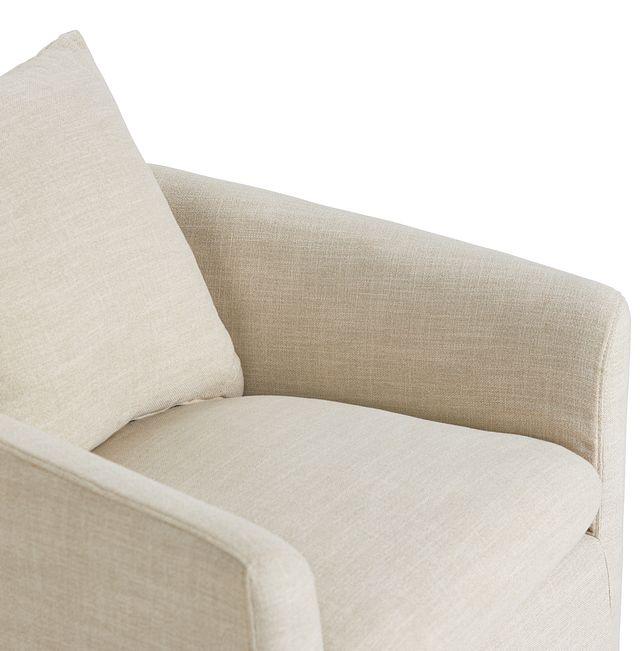 Willow Light Beige Fabric Swivel Chair