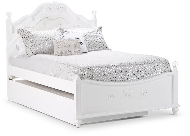 Alana White Uph Poster Trundle Bed (0)