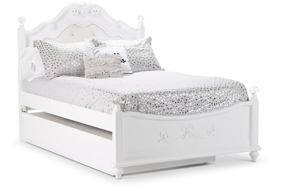 Alana White Uph Poster Trundle Bed
