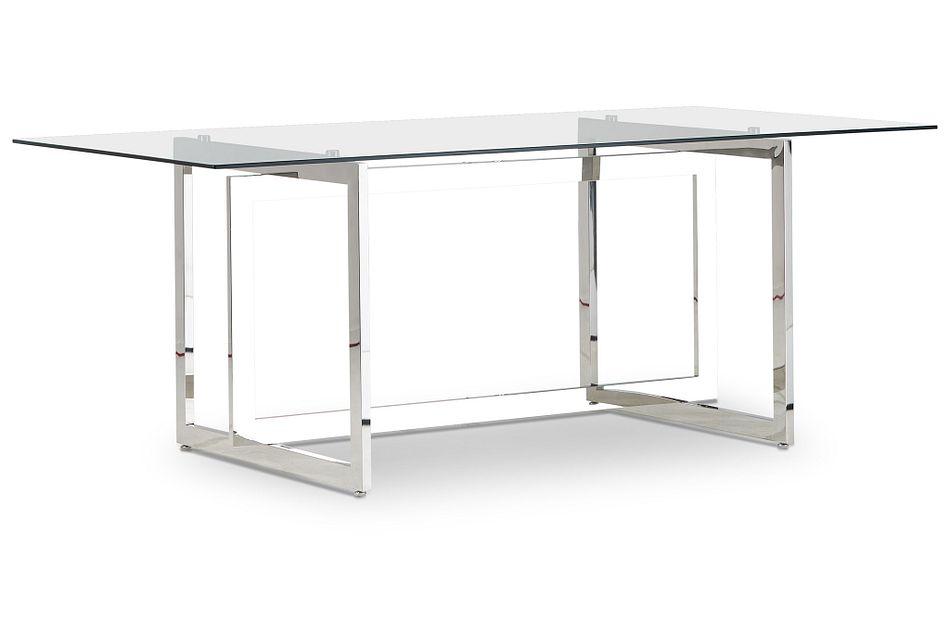 Bronx Glass  Rectangular Table,  (2)