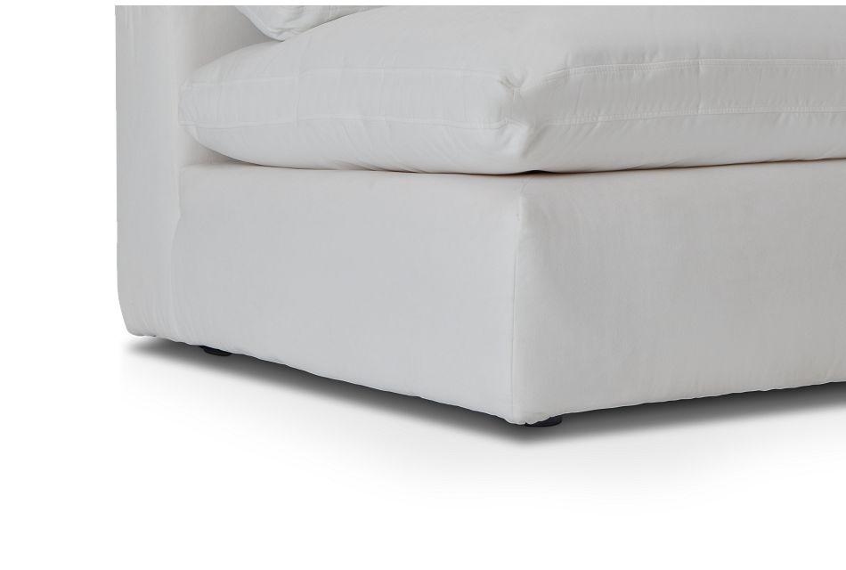 Nixon White Fabric 4-piece Modular Sectional