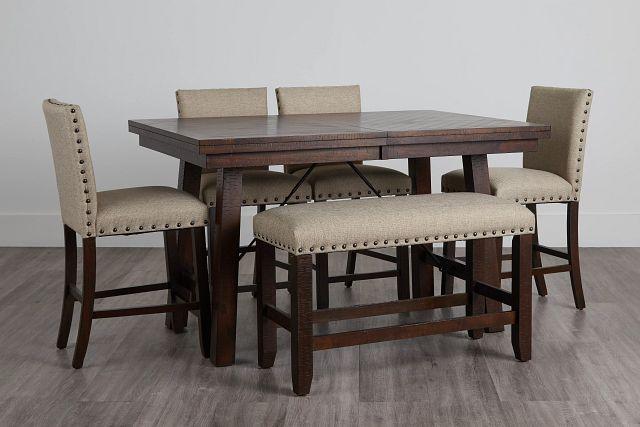 Jax Beige High Table, 4 Barstools & High Bench (0)