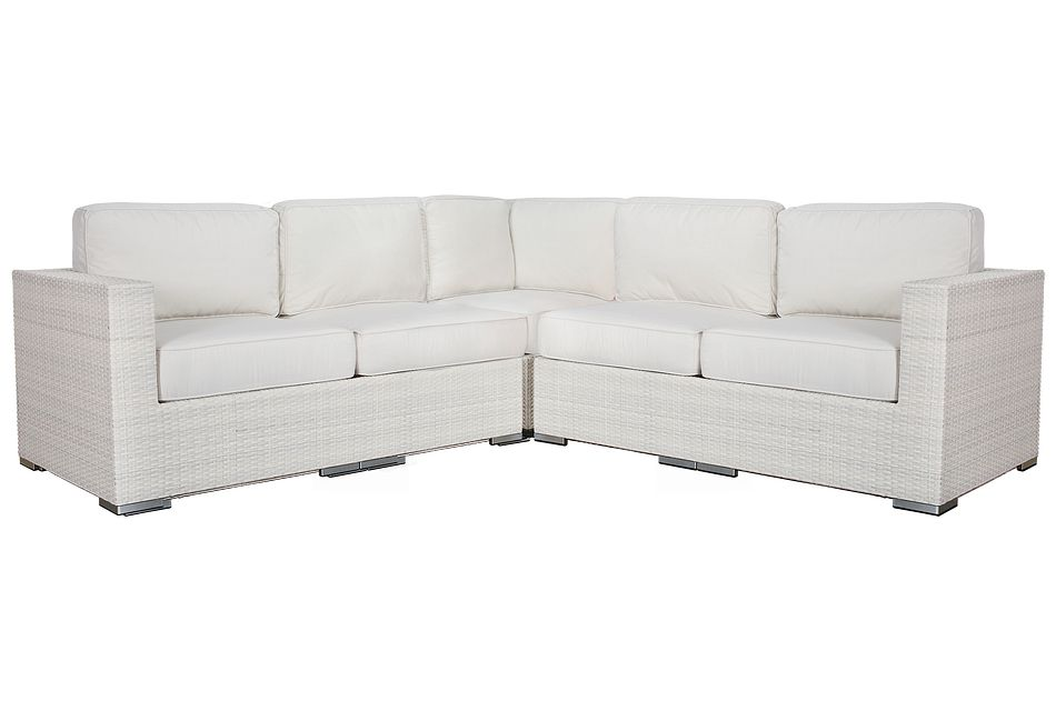 Biscayne White Small Two-arm Sectional