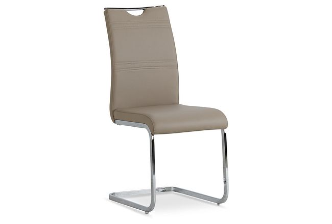 Treviso Taupe Upholstered Side Chair