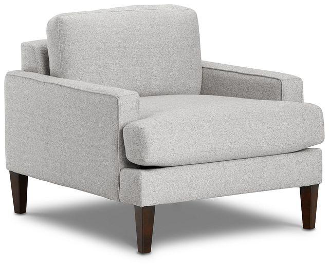 Morgan Light Gray Fabric Chair With Wood Legs (1)