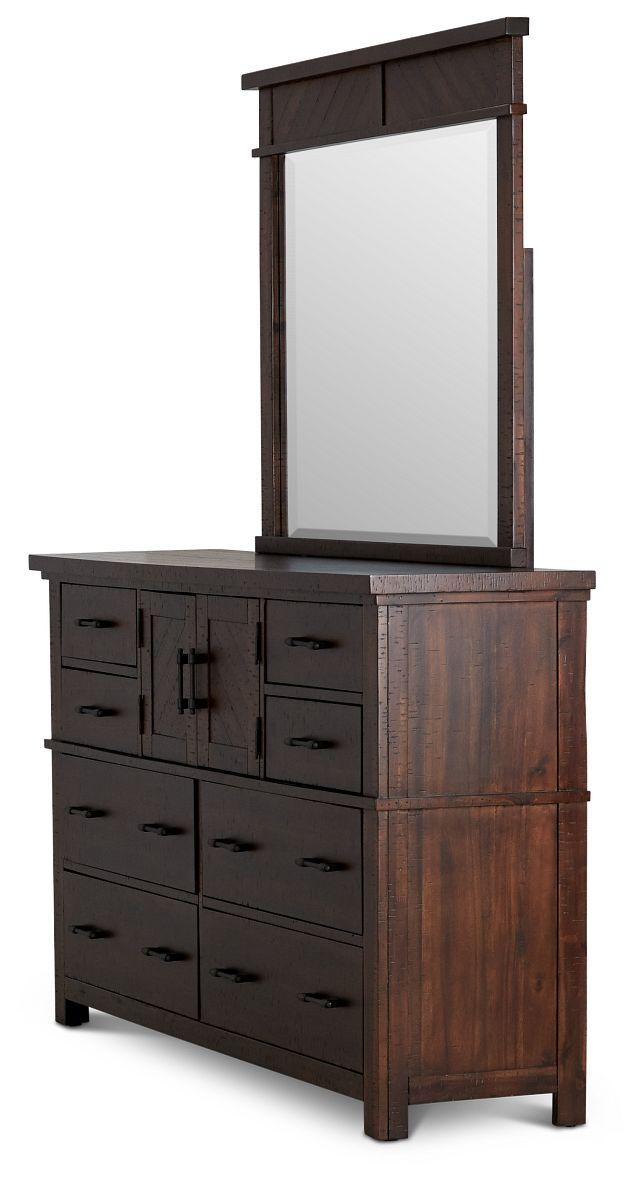 Jax Dark Tone Dresser & Mirror (3)