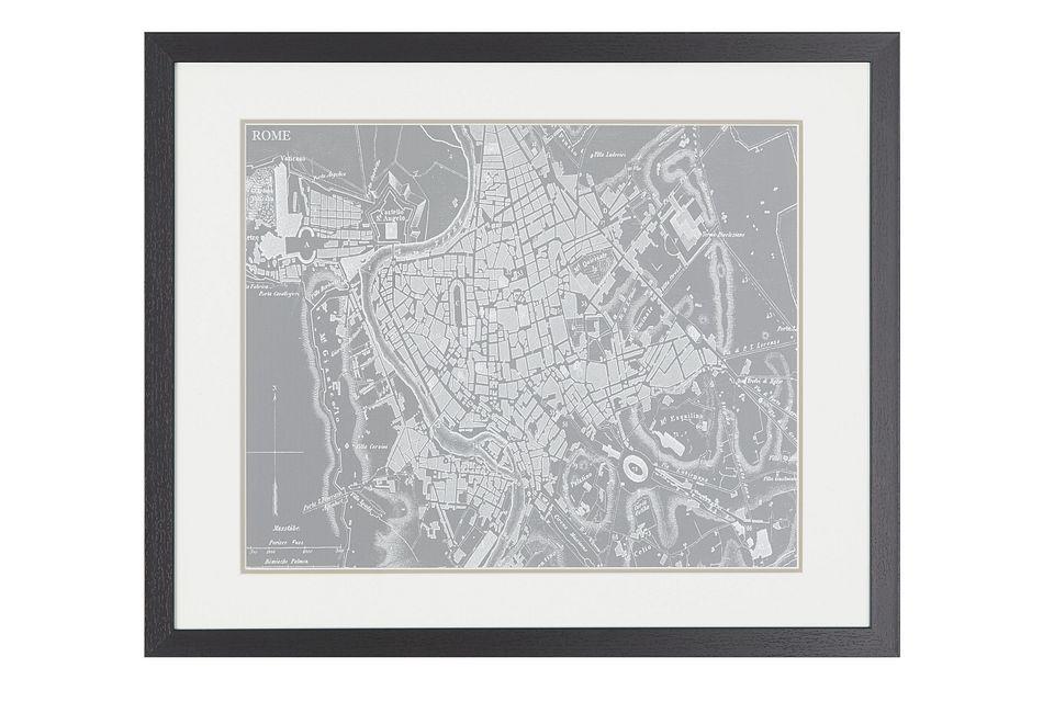 Sketch Gray Framed Wall Art
