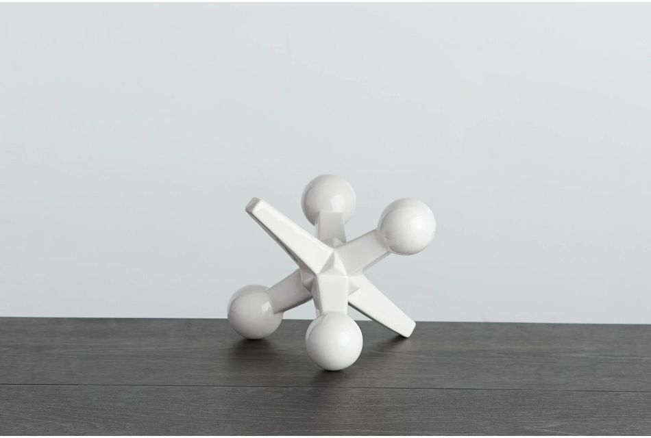 Jenga White Tabletop Accessory