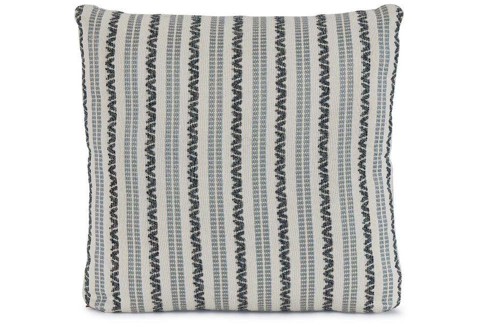 "Budreau Blue Fabric 18"" Accent Pillow,  (1)"