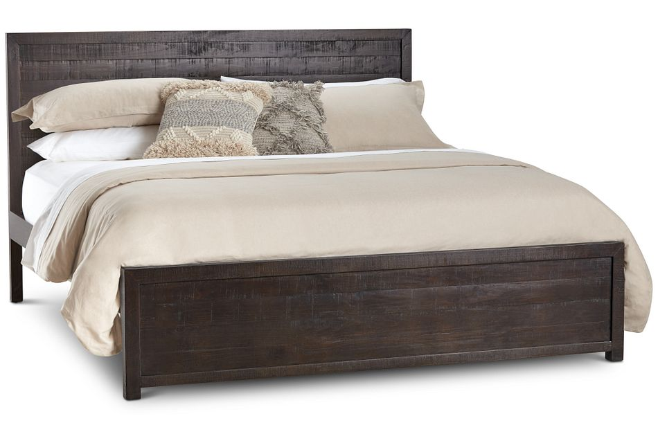 Seattle Dark Tone Wood Platform Bed