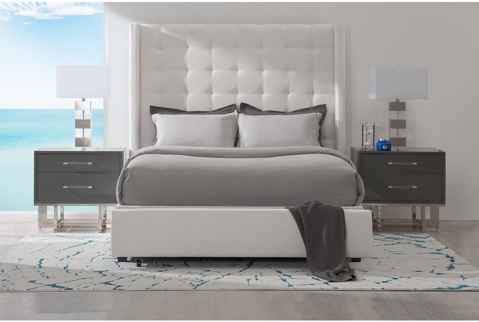 Marco White Uph Platform Storage Bed