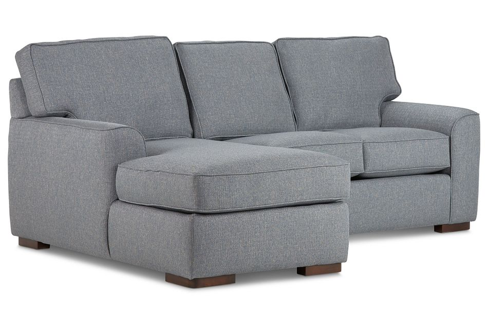 Austin Blue Fabric Left Chaise Sectional