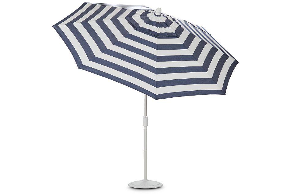 Capri Dark Blue Stripe Umbrella Set